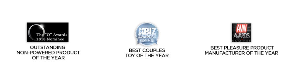 Nominated for couples toy of the year and best pleasure product manufacturer